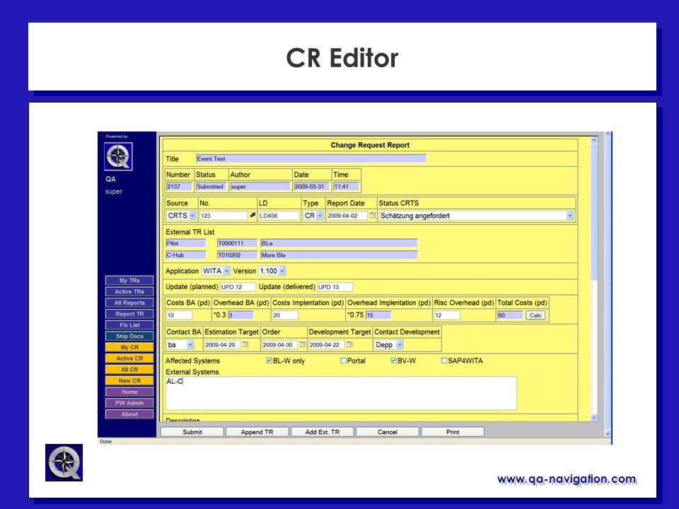 CR Editor