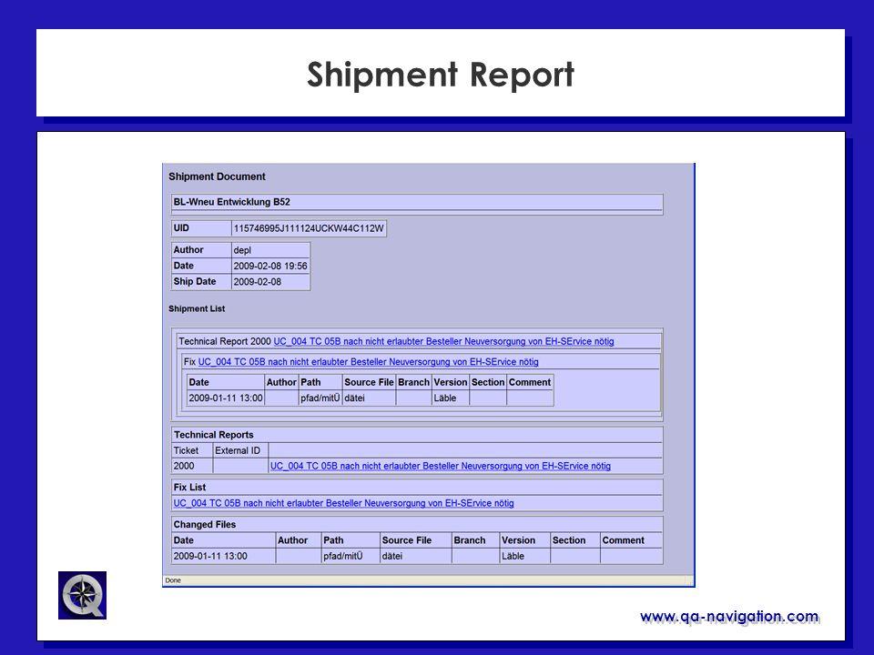 Shipment Report