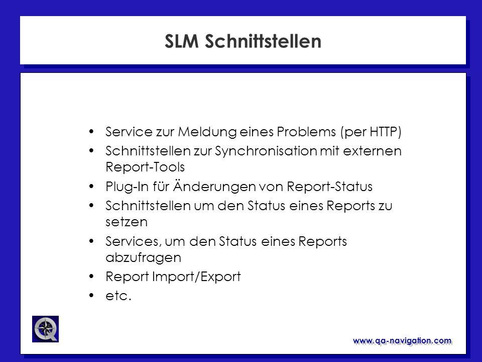 SLM Schnittstellen Service zur Meldung eines Problems (per HTTP)
