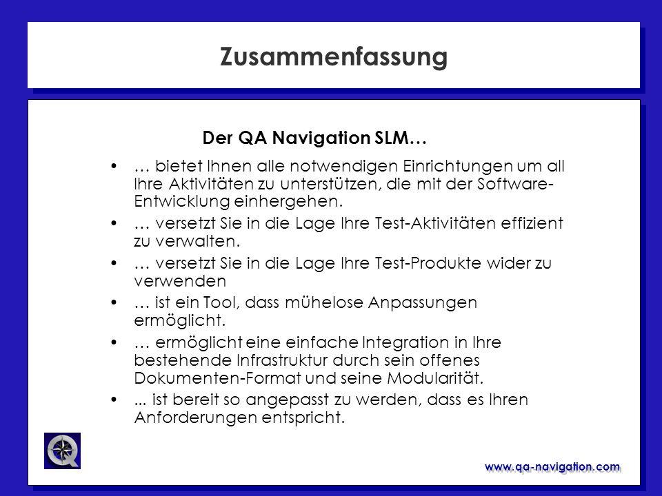 Zusammenfassung Der QA Navigation SLM…