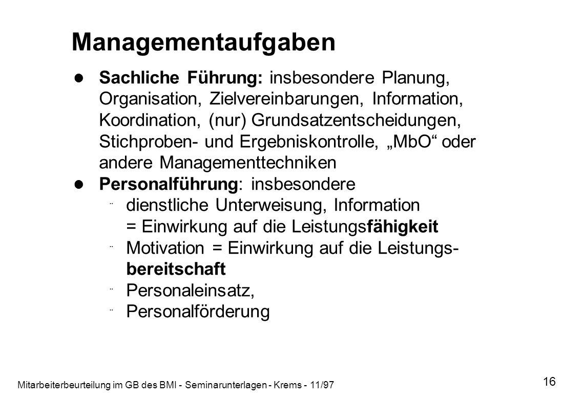 Managementaufgaben