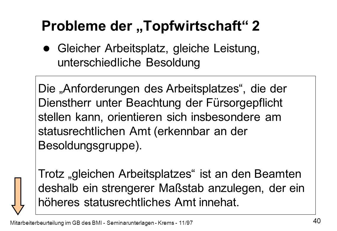 """Probleme der """"Topfwirtschaft 2"""