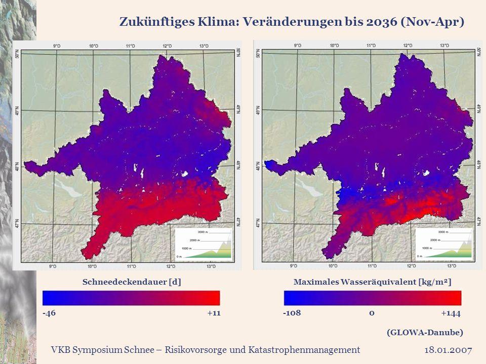 Zukünftiges Klima: Veränderungen bis 2036 (Nov-Apr)