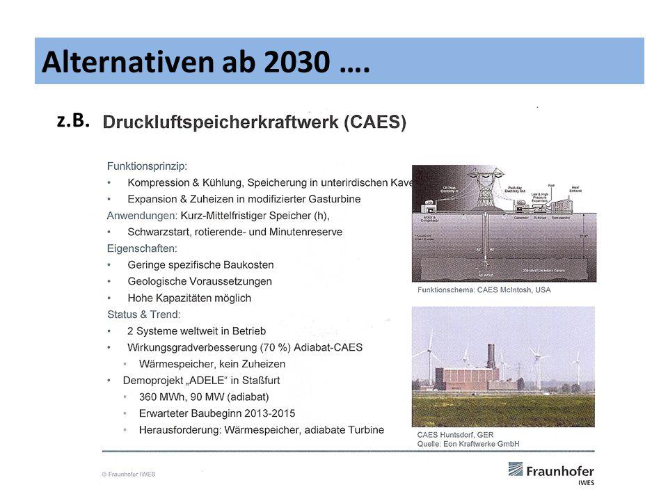 Alternativen ab 2030 …. z.B. 12
