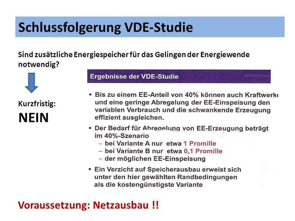 Schlussfolgerung VDE-Studie
