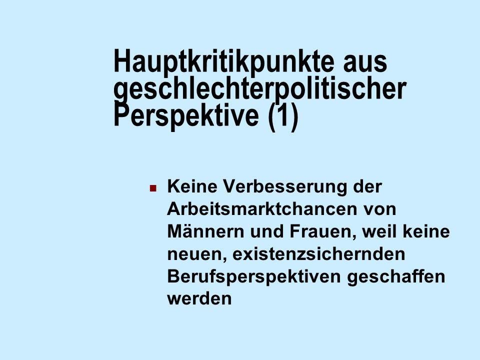 Hauptkritikpunkte aus geschlechterpolitischer Perspektive (1)