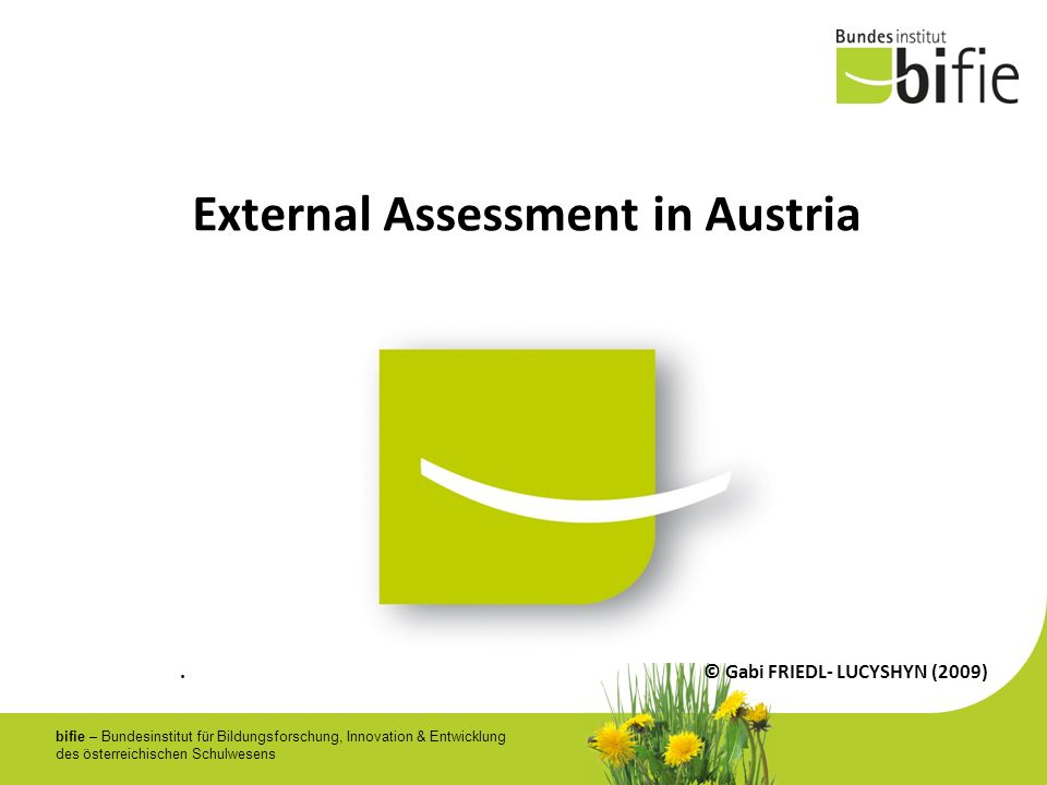 External Assessment in Austria