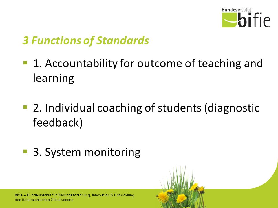 3 Functions of Standards