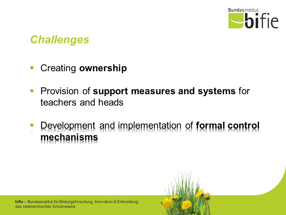 Challenges Creating ownership