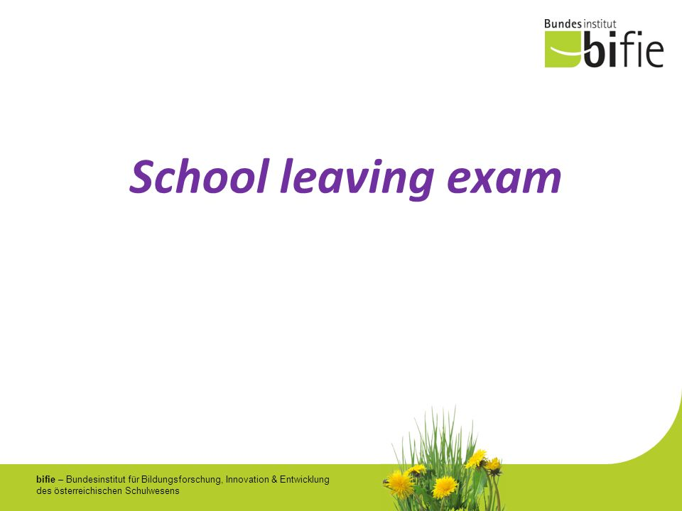 School leaving exam