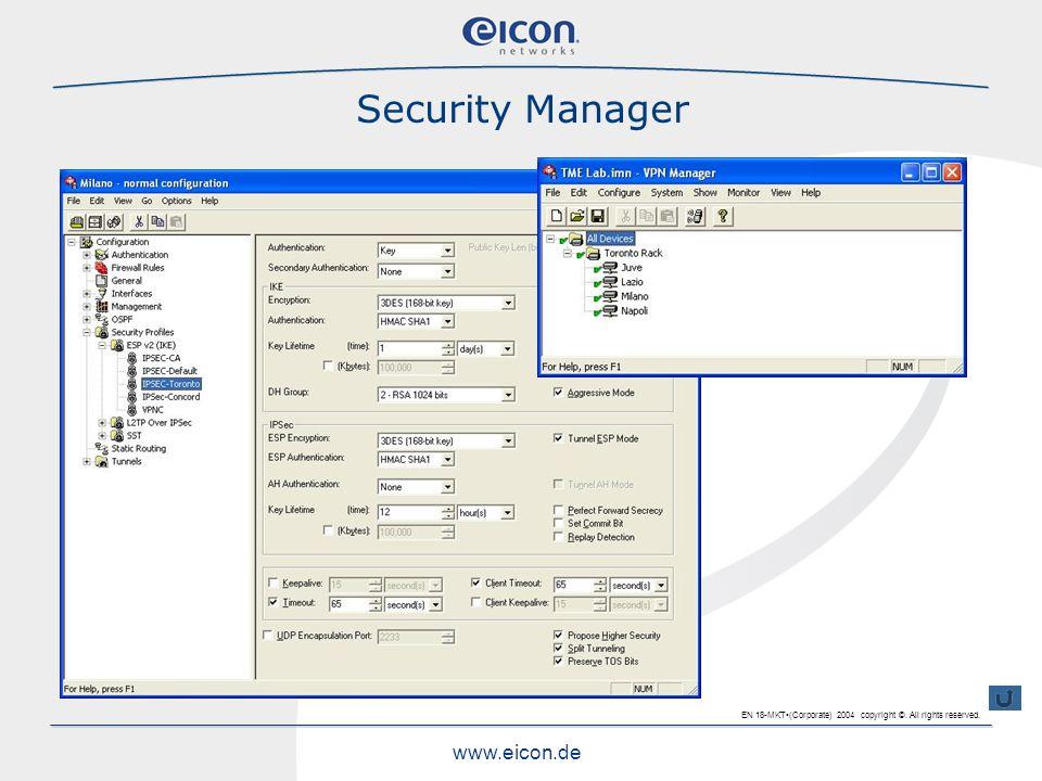Security Manager Einfache Baumstrucktur für die Verwaltung der einzelnen Lokationen erwähnen und das Menü für die Zusatzoptionen anreissen.