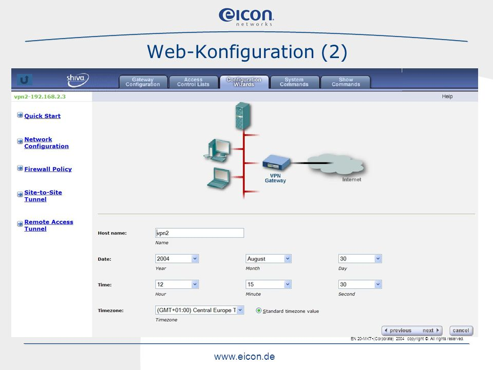 Web-Konfiguration (2)