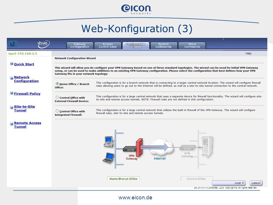 Web-Konfiguration (3)