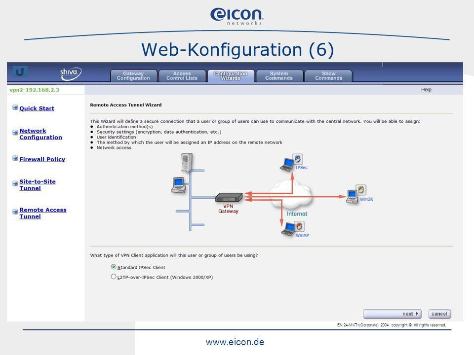 Web-Konfiguration (6)