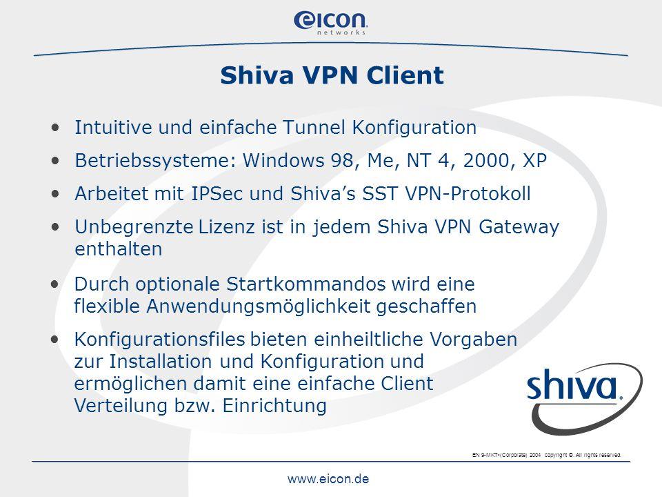 Shiva VPN Client Intuitive und einfache Tunnel Konfiguration