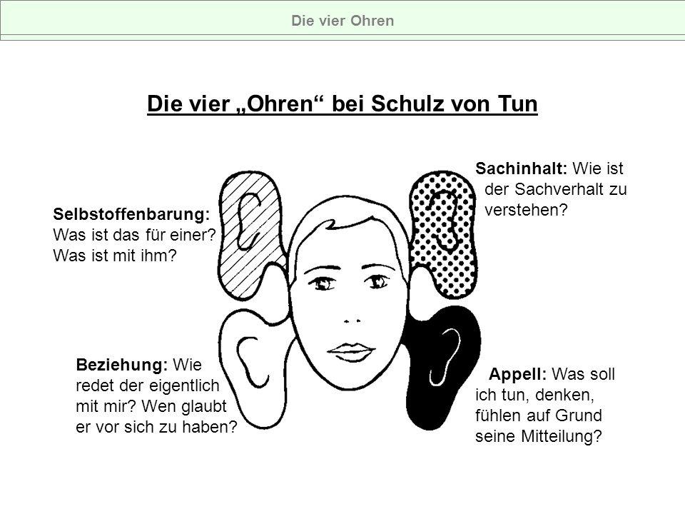 """Die vier """"Ohren bei Schulz von Tun"""