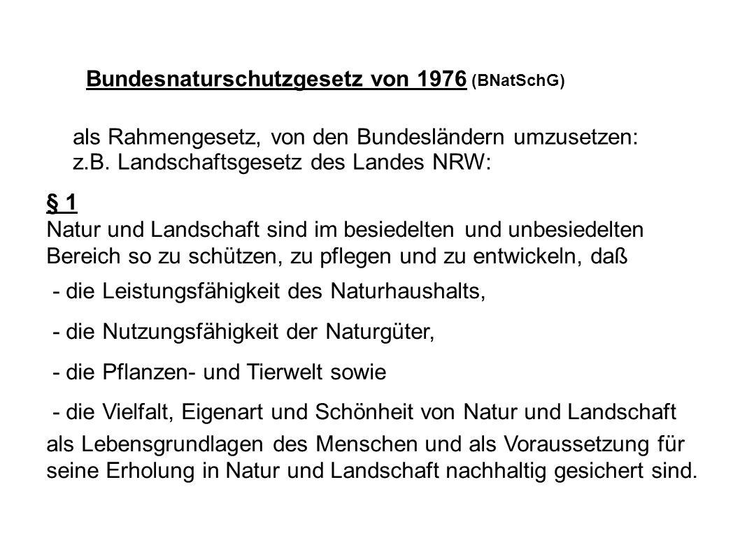 Bundesnaturschutzgesetz von 1976 (BNatSchG)