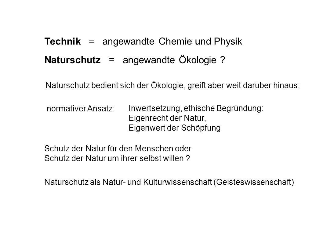 Technik = angewandte Chemie und Physik