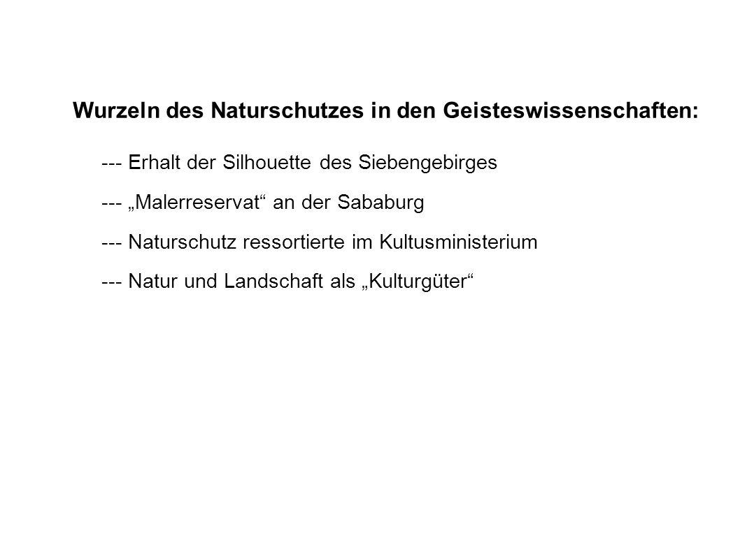 Wurzeln des Naturschutzes in den Geisteswissenschaften: