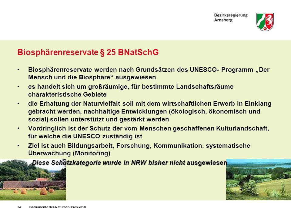 Biosphärenreservate § 25 BNatSchG