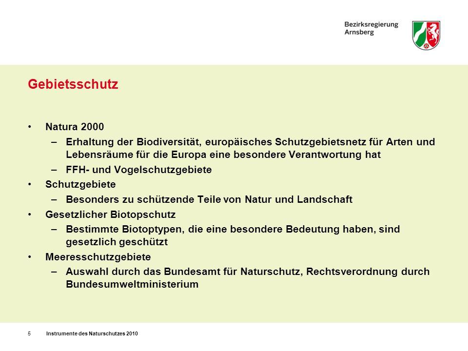 Gebietsschutz Natura 2000.