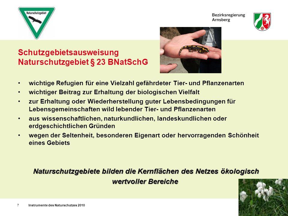 Schutzgebietsausweisung Naturschutzgebiet § 23 BNatSchG