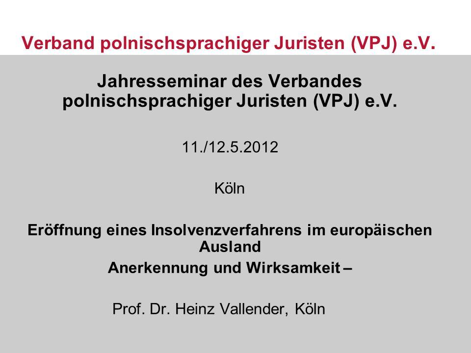 Verband polnischsprachiger Juristen (VPJ) e.V.
