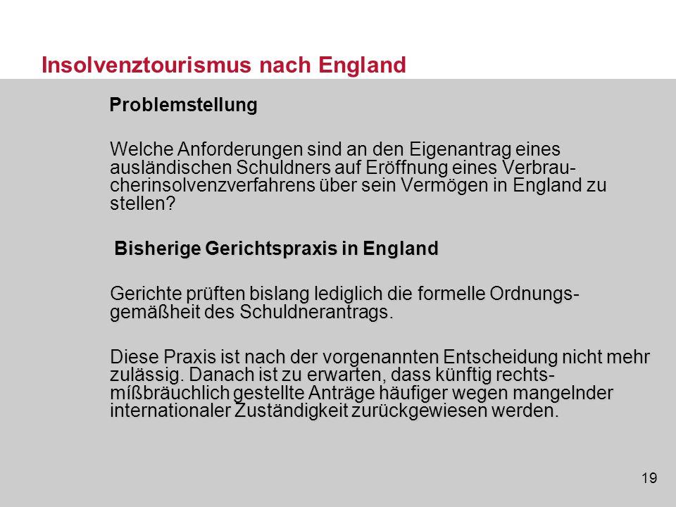 Insolvenztourismus nach England