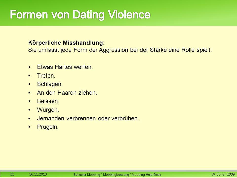 Formen von Dating Violence