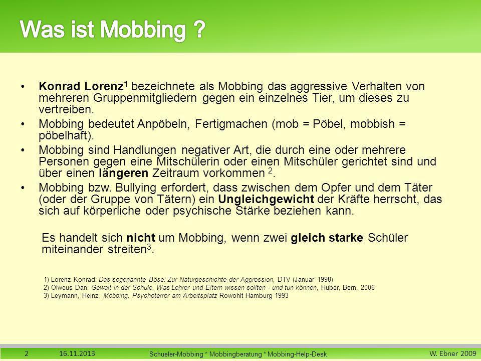 Was ist Mobbing
