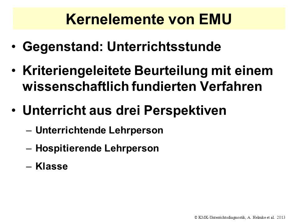 Kernelemente von EMU Gegenstand: Unterrichtsstunde