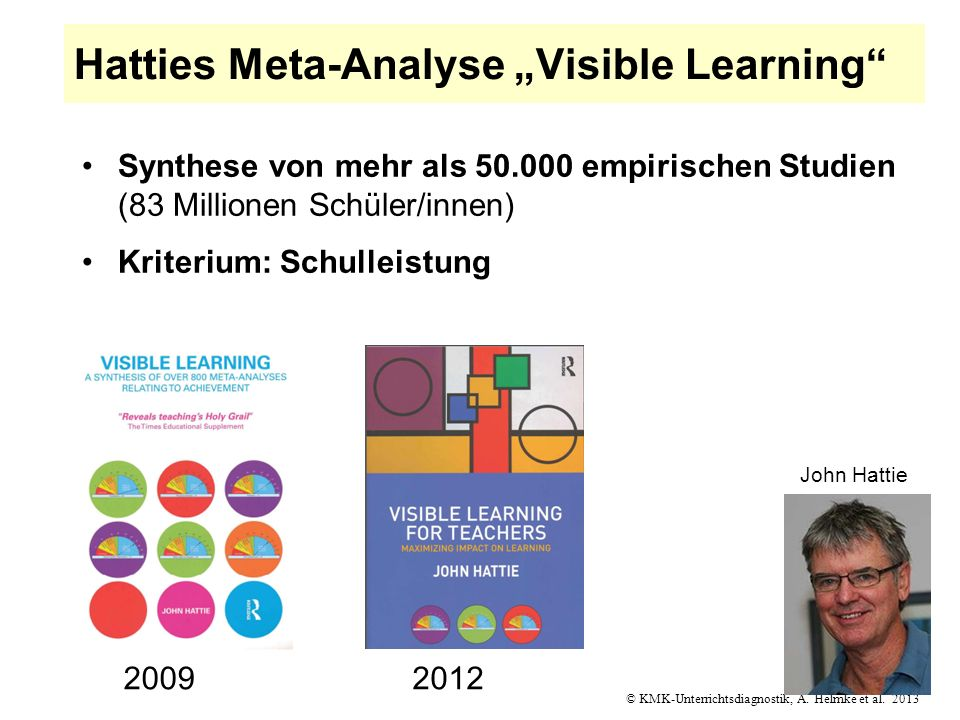 "Hatties Meta-Analyse ""Visible Learning"