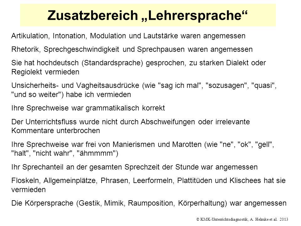 """Zusatzbereich """"Lehrersprache"""