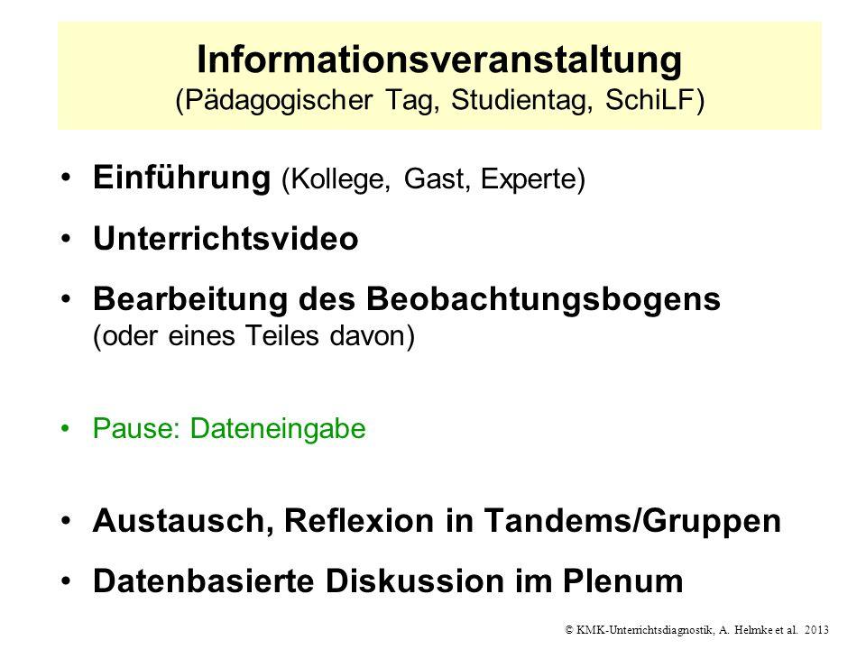 Informationsveranstaltung (Pädagogischer Tag, Studientag, SchiLF)