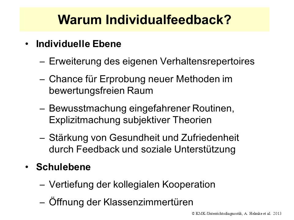 Warum Individualfeedback