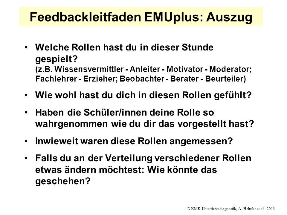 Feedbackleitfaden EMUplus: Auszug