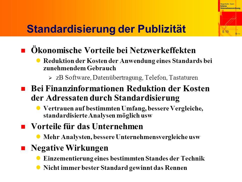 Standardisierung der Publizität