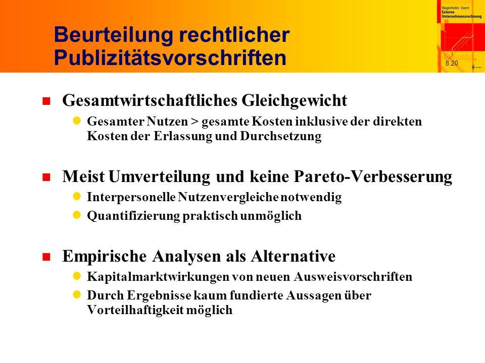 Beurteilung rechtlicher Publizitätsvorschriften