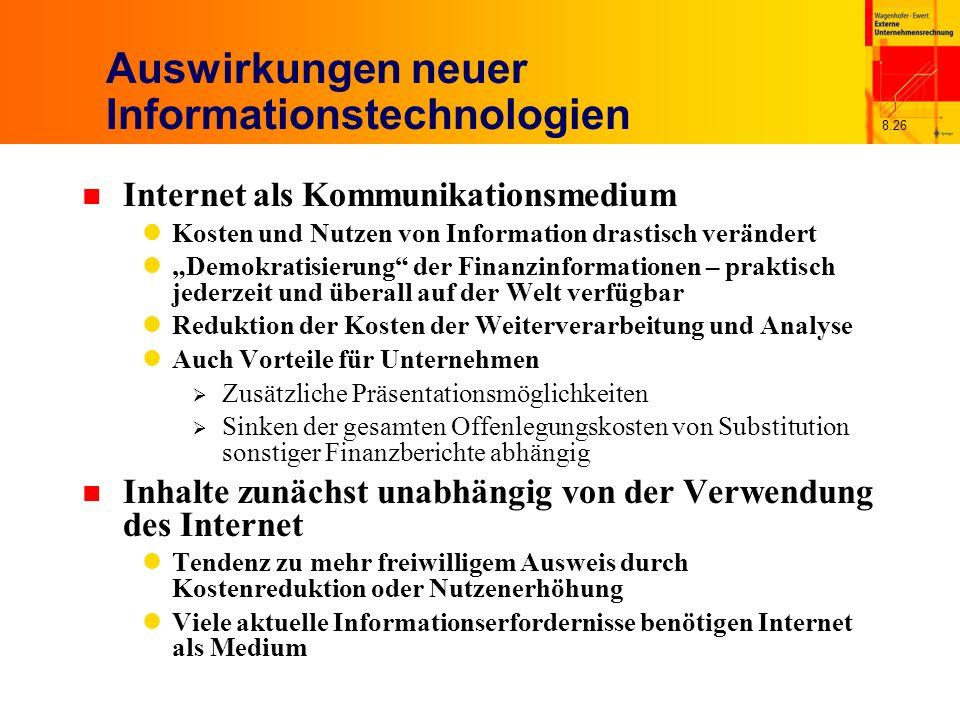 Auswirkungen neuer Informationstechnologien