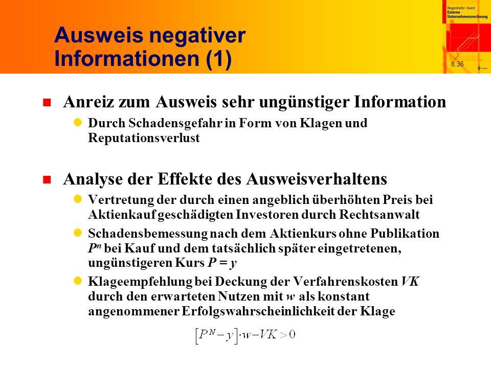 Ausweis negativer Informationen (1)