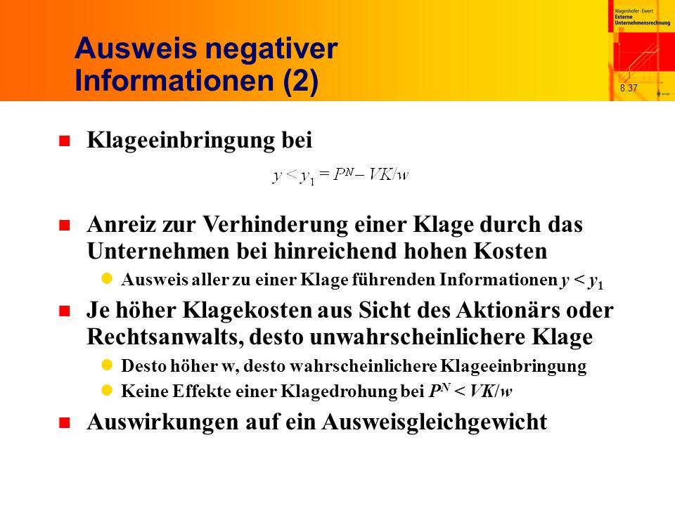 Ausweis negativer Informationen (2)