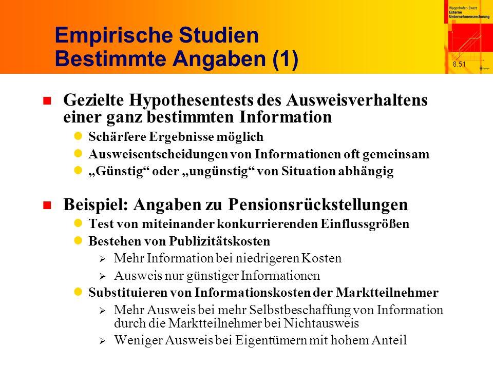 Empirische Studien Bestimmte Angaben (1)