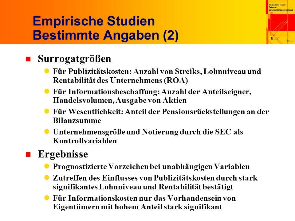 Empirische Studien Bestimmte Angaben (2)