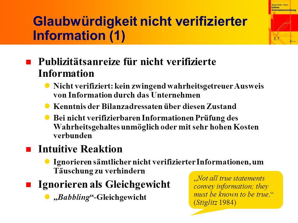 Glaubwürdigkeit nicht verifizierter Information (1)