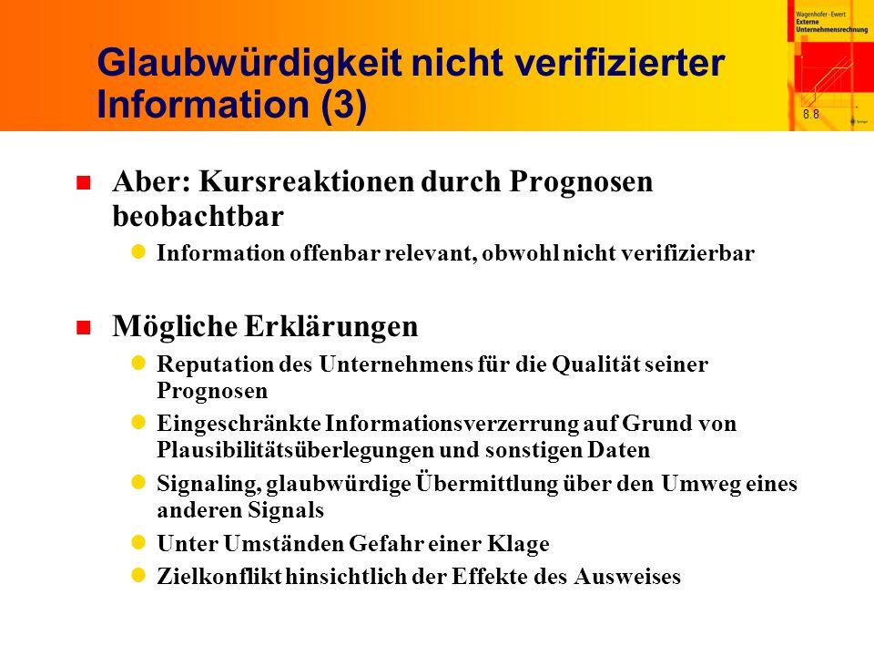 Glaubwürdigkeit nicht verifizierter Information (3)