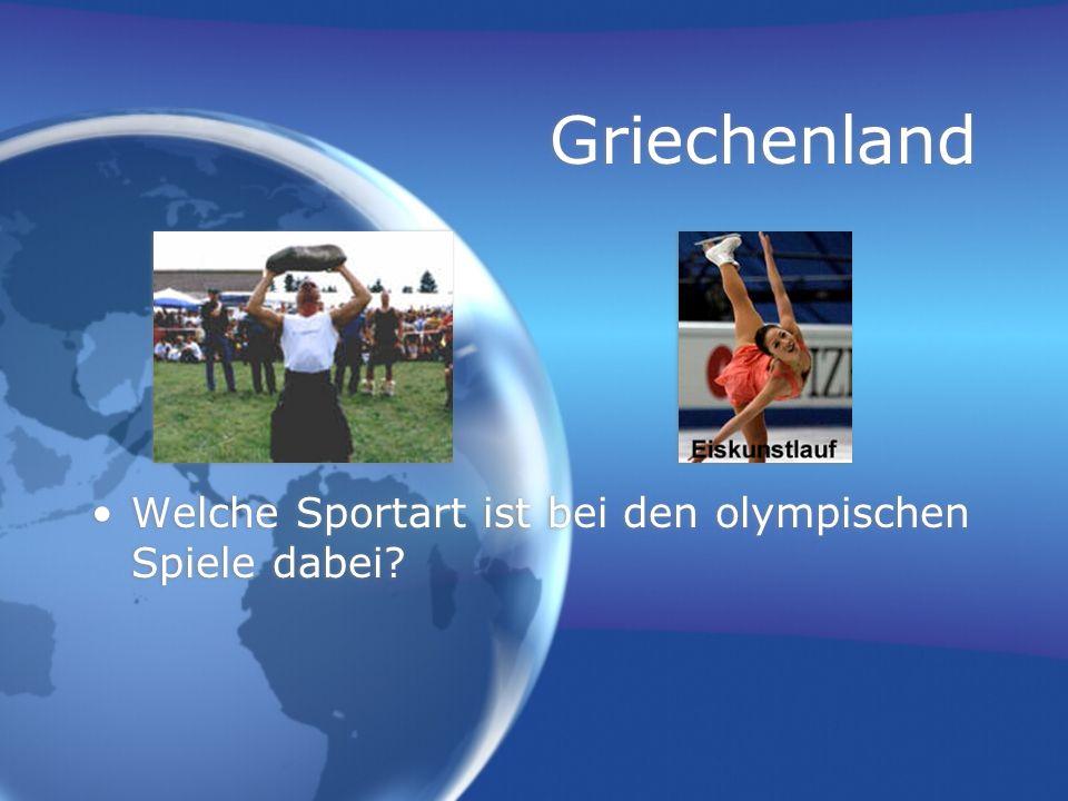 Griechenland Welche Sportart ist bei den olympischen Spiele dabei