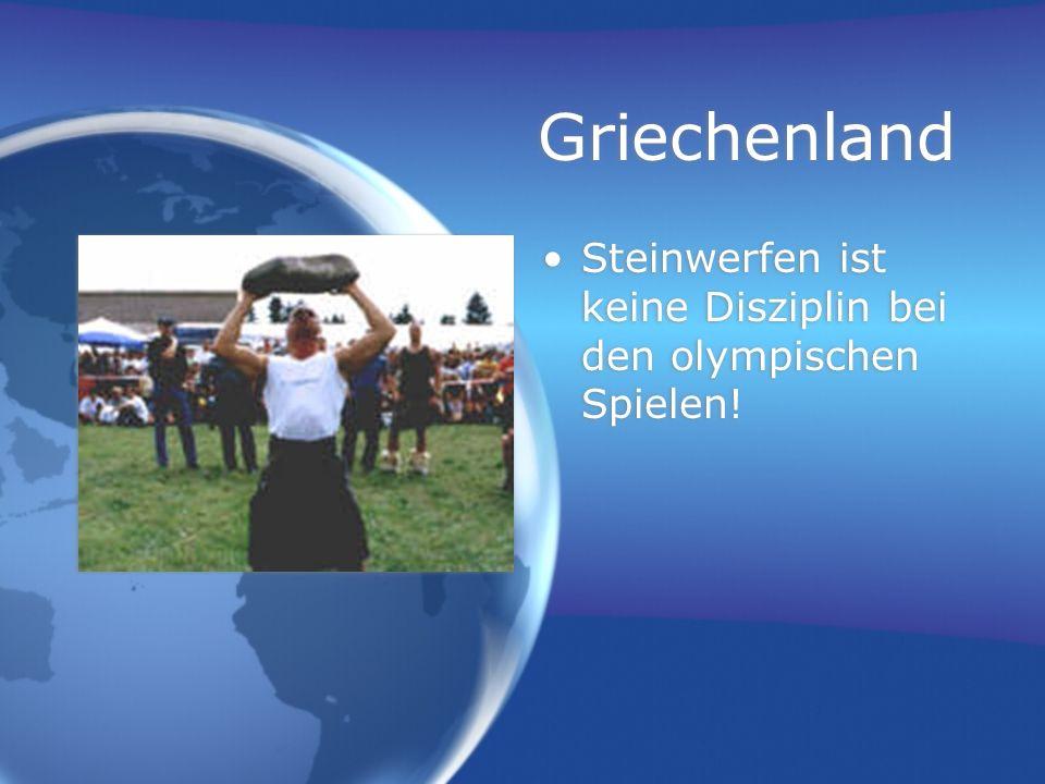 Griechenland Steinwerfen ist keine Disziplin bei den olympischen Spielen!