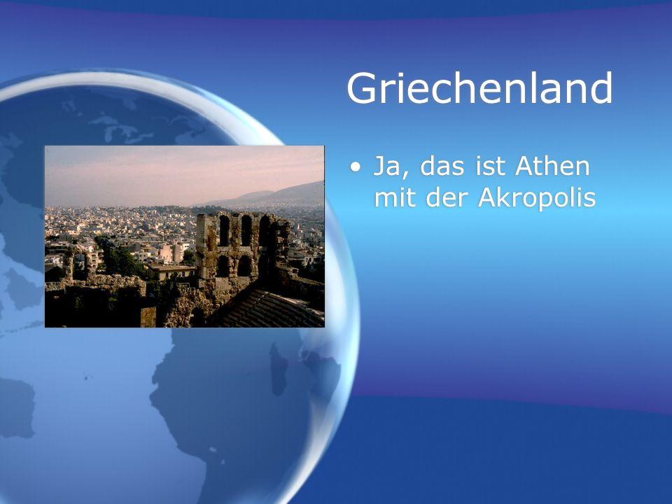 Griechenland Ja, das ist Athen mit der Akropolis