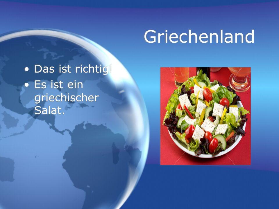 Griechenland Das ist richtig! Es ist ein griechischer Salat.