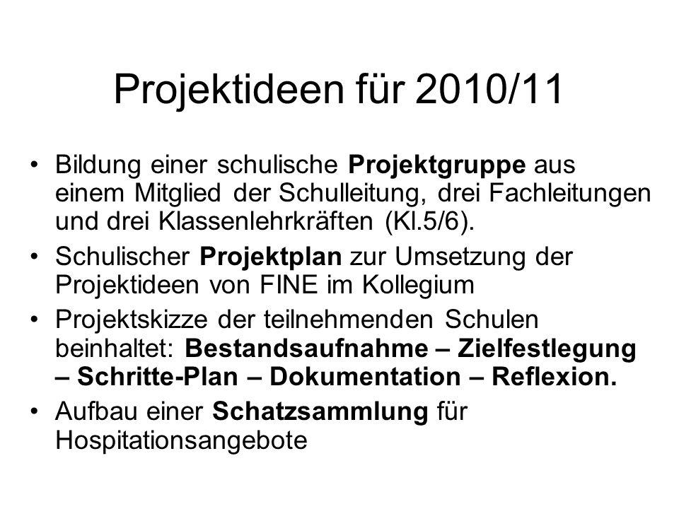 Projektideen für 2010/11